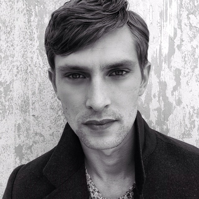 Mathias Lauridsen is photographed behind the scenes of a shoot.