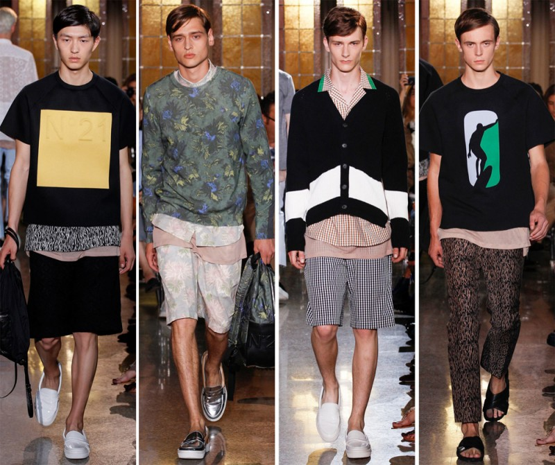 N°21 Spring/Summer 2015: The skater was the hero of the day at N°21. Think relaxed silhouettes and wearable separates.