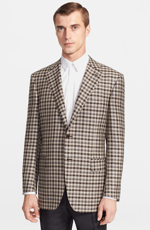 Clement Chabernaud wears Canali plaid sportcoat from Nordstrom
