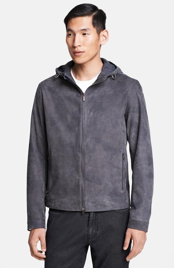 Jae Yoo wears Zegna Sport hooded  bomber jacket from Nordstrom