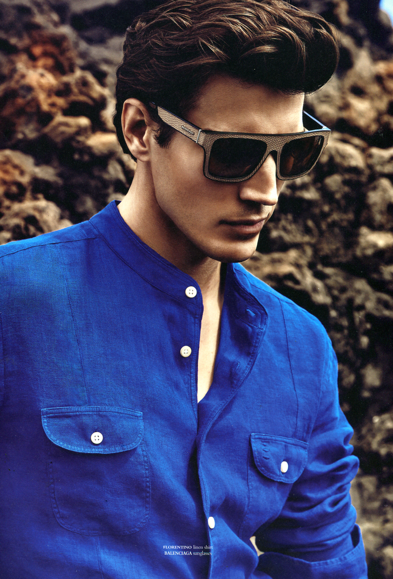 Oriol Elcacho Dazzles in Blue Summer Fashions for Horse Magazine