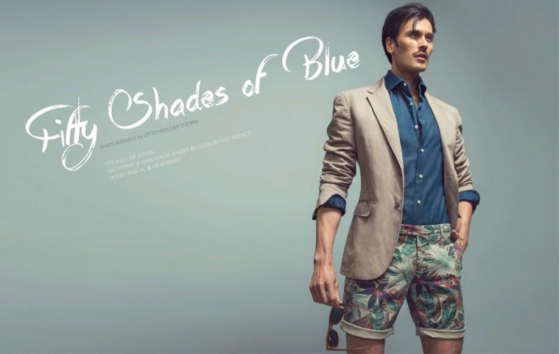 Pascal wears blazer Canali, shirt Cherardi and floral print shorts Berwich.