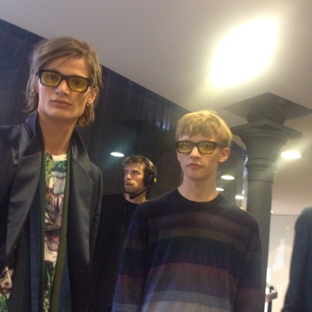 Paul Smith may have been psychedelic but his models were nerd chic.