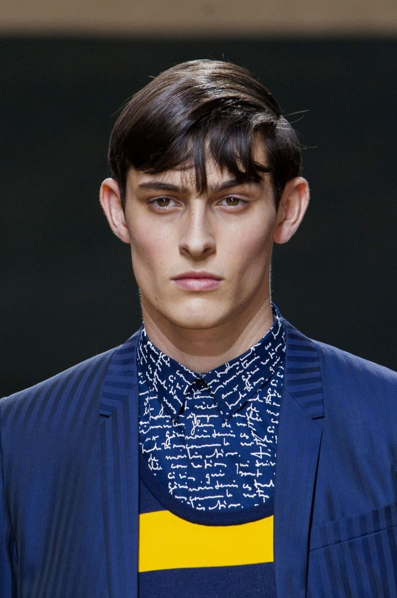 A close-up of Rhys from Dior Homme's show.