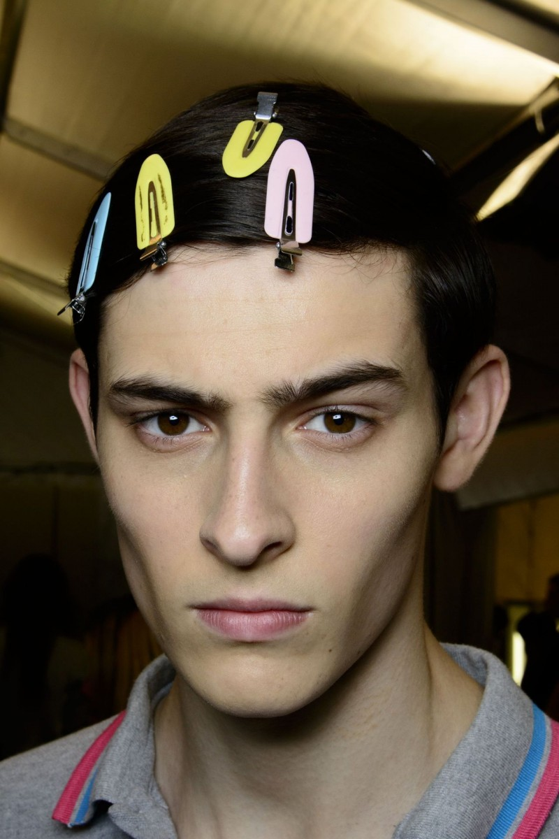 Rhys backstage at Louis Vuitton