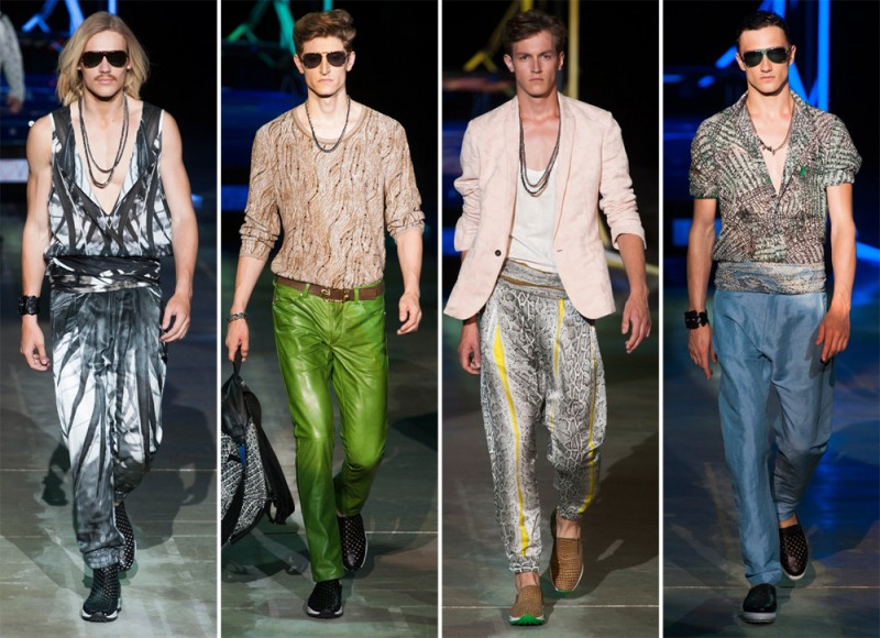 Roberto Cavalli Spring/Summer 2015: The designer brought Miami to Milan with a retro 70s explosion that carried with it the house's signature charm.