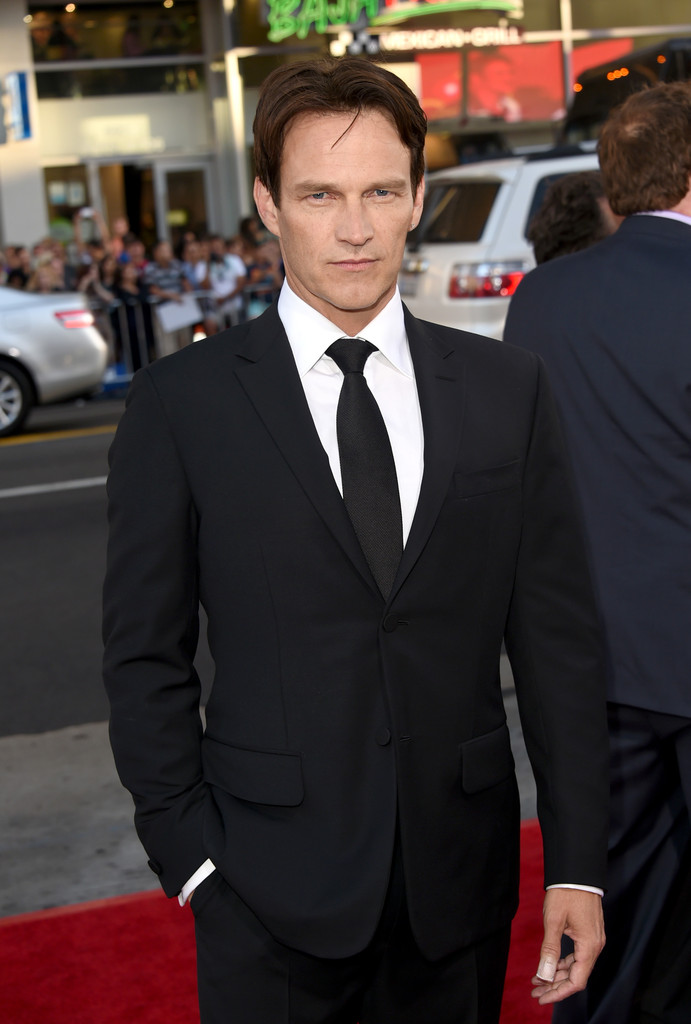 Attending the 'True Blood' premiere, actor Stephen Moyer cleans up well in a tailored suit from Ermenegildo Zegna Couture.