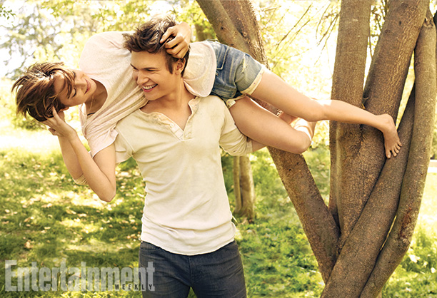 Ansel Elgort Poses for The Fault in Our Stars Promo Images for Entertainment Weekly image
