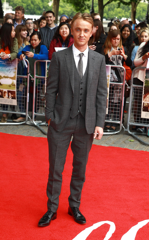 Tom Felton Sam Reid James Norton Wear Burberry