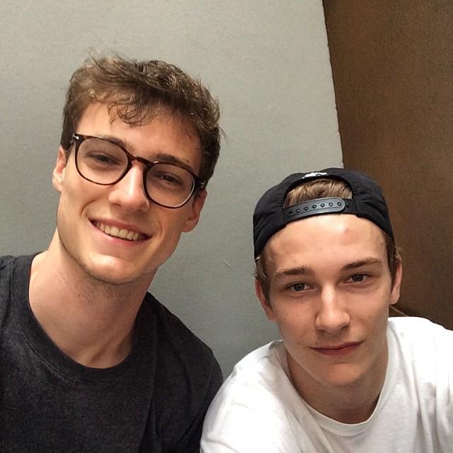 Models Tomasso De Benedictis and Dominik Hahn are all smiles.