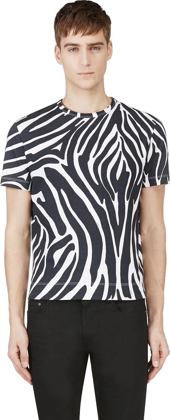 Versus zebra print t-shirt $112 from SSENSE