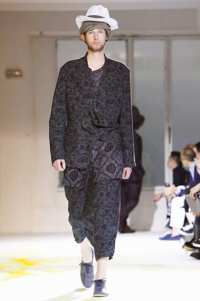 Yohji Yamamoto Men Spring Summer 2015 Paris Fashion Week Collection 003 image Yohji Yamamoto Men Spring Summer 2015 Paris Fashion Week Collection 003