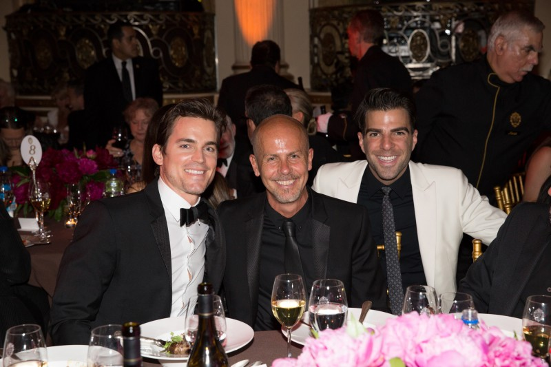 Actor Matt Bomer, Calvin Klein Collection men's creative director Italo Zucchelli and actor Zachary Quinto