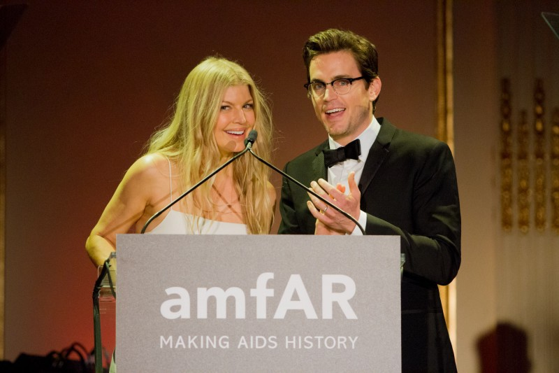 Singer Fergie and actor Matt Bomer