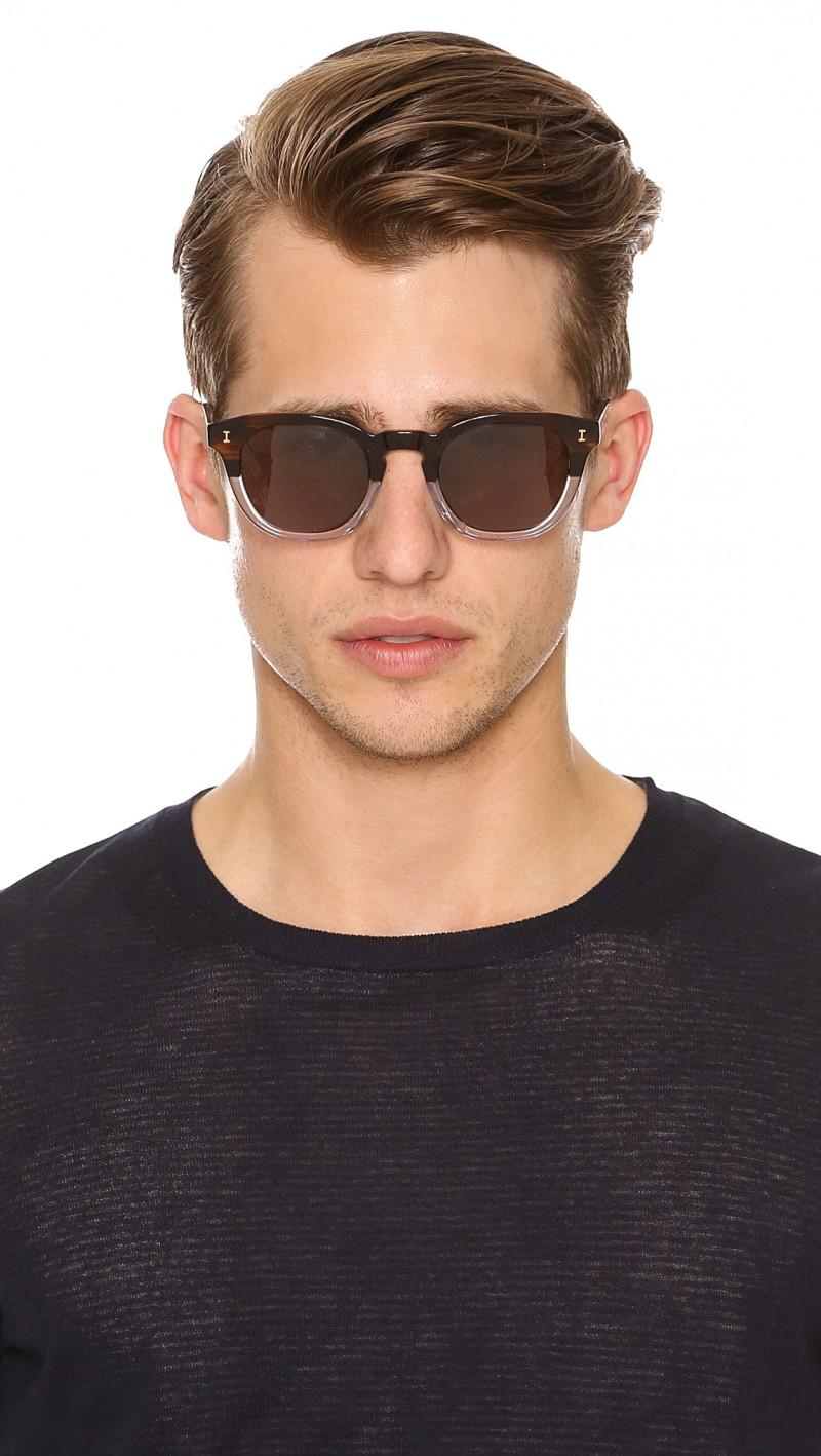 Illesteva Half/Half Hooked Sunglasses