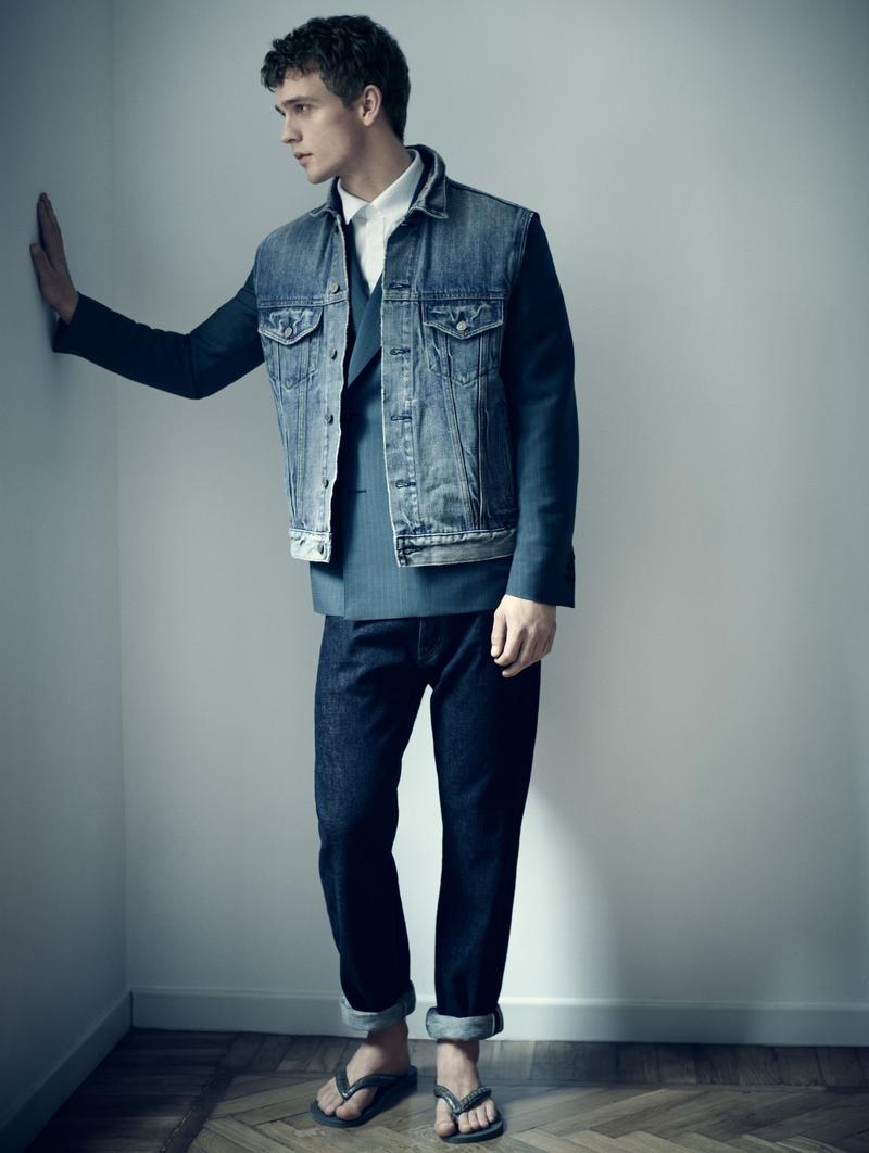 Benjamin Eidem Models Blue Designs For The Greatest Cover