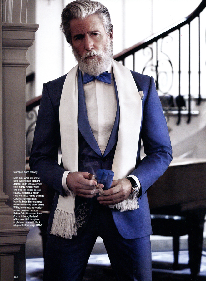 Aiden Brady Dons Luxe Suits for The Rake Magazine