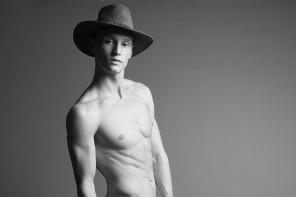 Alexander wears jeans McQ by Alexander McQueen, hat Henschel Hat Co. and shoes Filippa K.