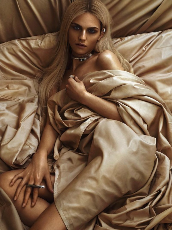Andrej Pejic by Rowan Papier for Teen Vogue April 2014