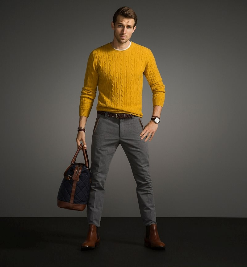 Cable Knit Sweater Men