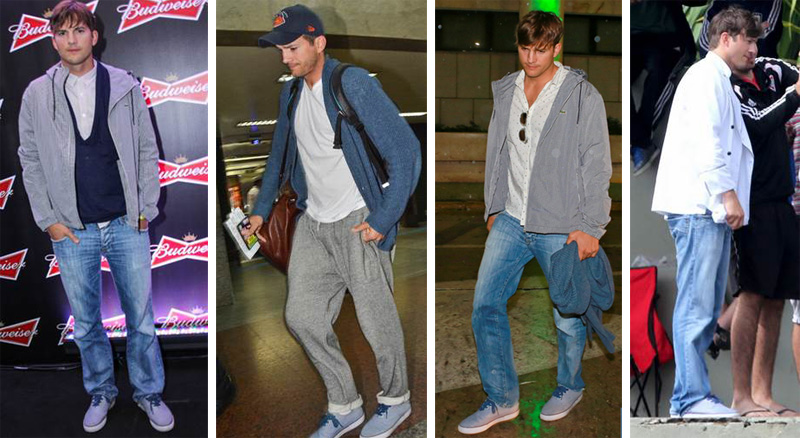 Ashton Kutcher in Lacoste Imatra ESS Sneakers