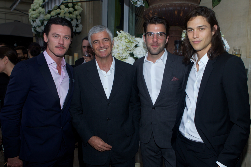 Luke Evans, Toni Belloni, Zachary Quinto and Miles McMillan