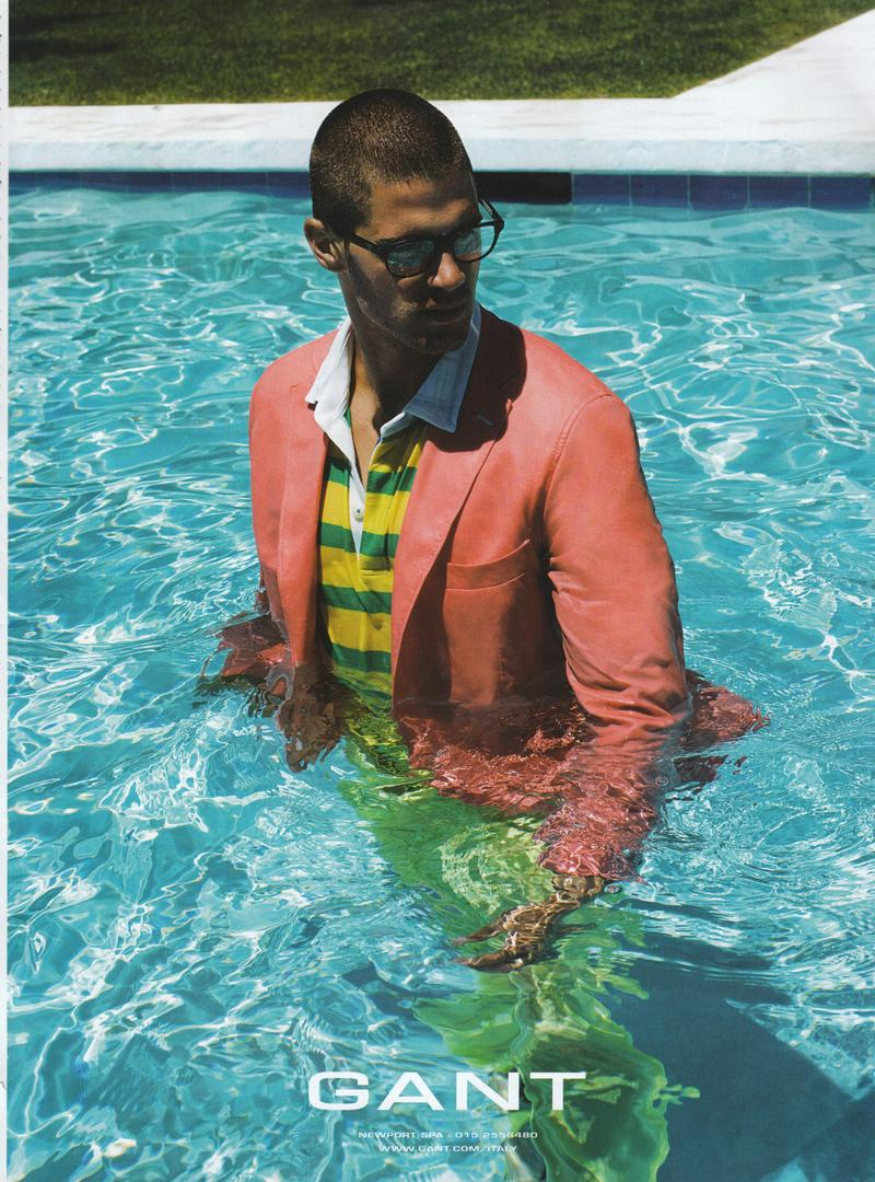 Chad White enjoys a dip in the pool for GANT's spring/summer 2009 campaign.
