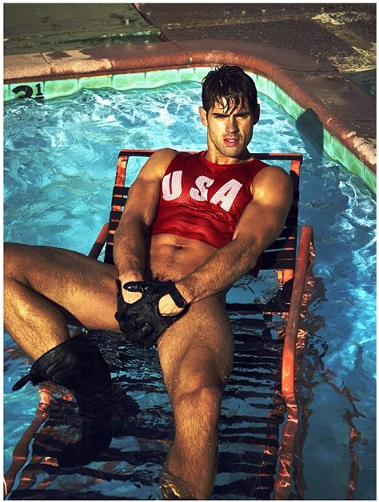 Chad White poses for a Mert & Marcus Interview editorial shot published earlier this year.