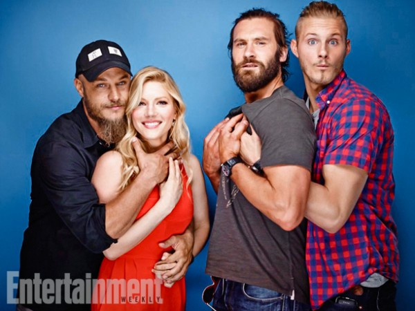 Travis Fimmel, Katheryn Winnick, Clive Standen and Alexander Ludwig from 'Vikings'