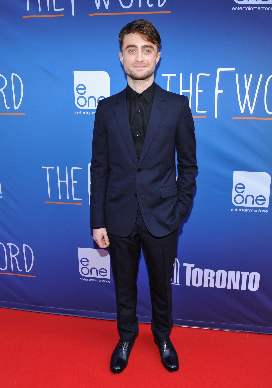 Daniel Radcliffe Wears Saint Laurent Suit To The F Word