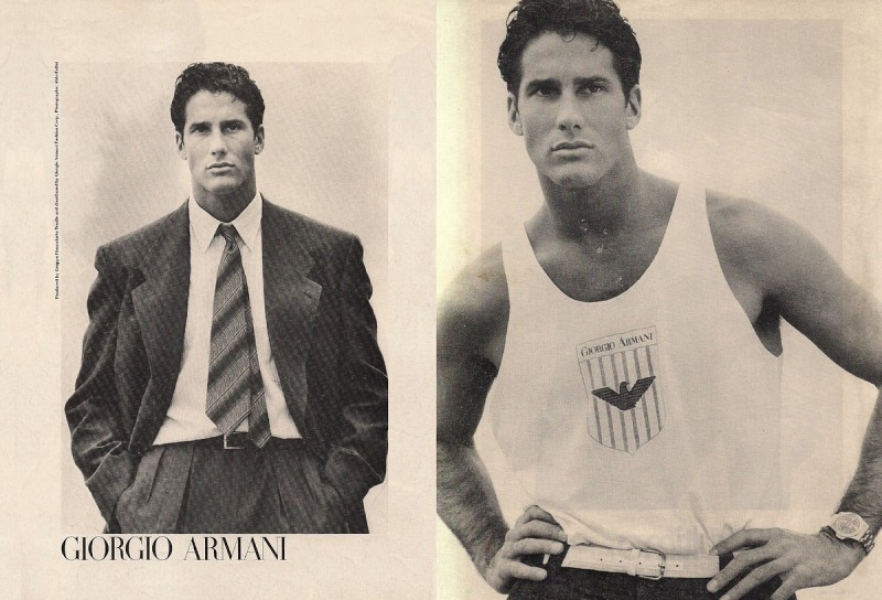 Bill Quinn by Aldo Fallai for Giorgio Armani fall/winter 1985 campaign.