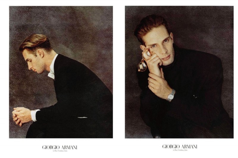 Ben Shaul by Aldo Fallai for Giorgio Armani fall/winter 1989 campaign.