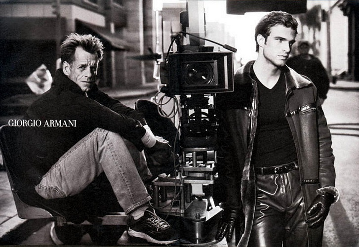 James Crittenden and Jon Passavant for Giorgio Armani Fall/Winter 2001 Campaign.
