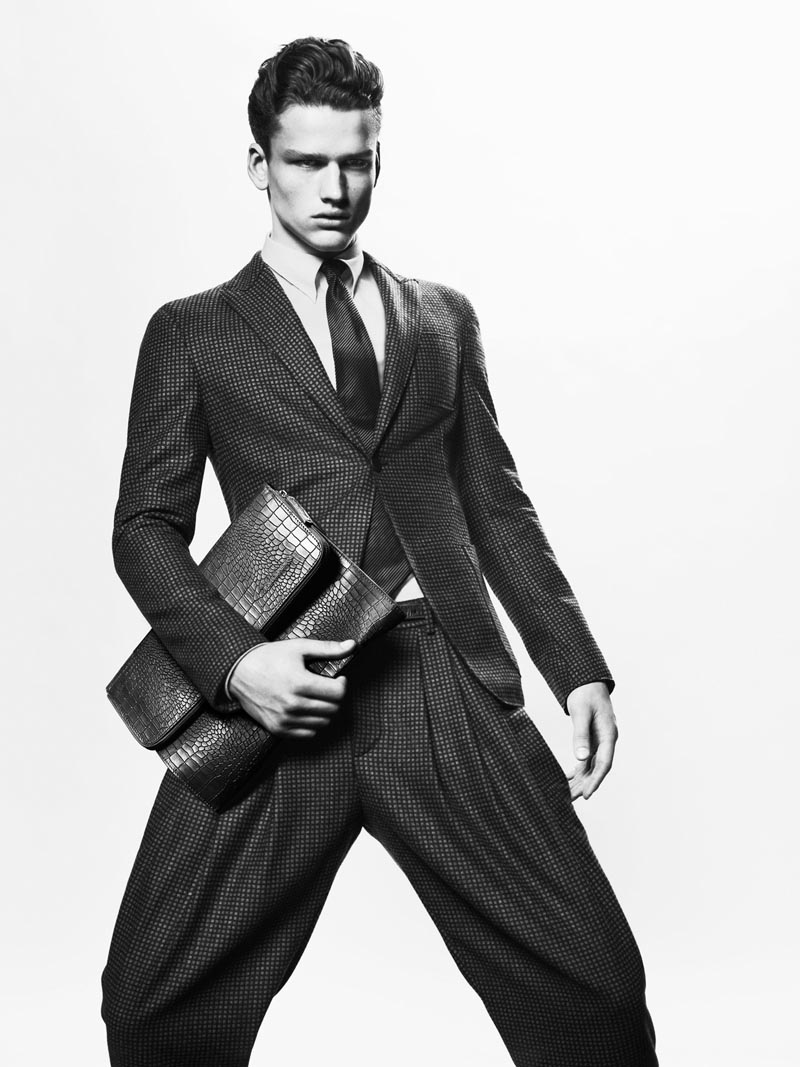Simon Nessman by Mert & Marcus for Giorgio Armani fall/winter 2012 campaign.