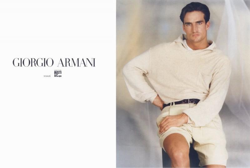 Burke Hudson by Aldo Fallai for Giorgio Armani spring/summer 1988 campaign.