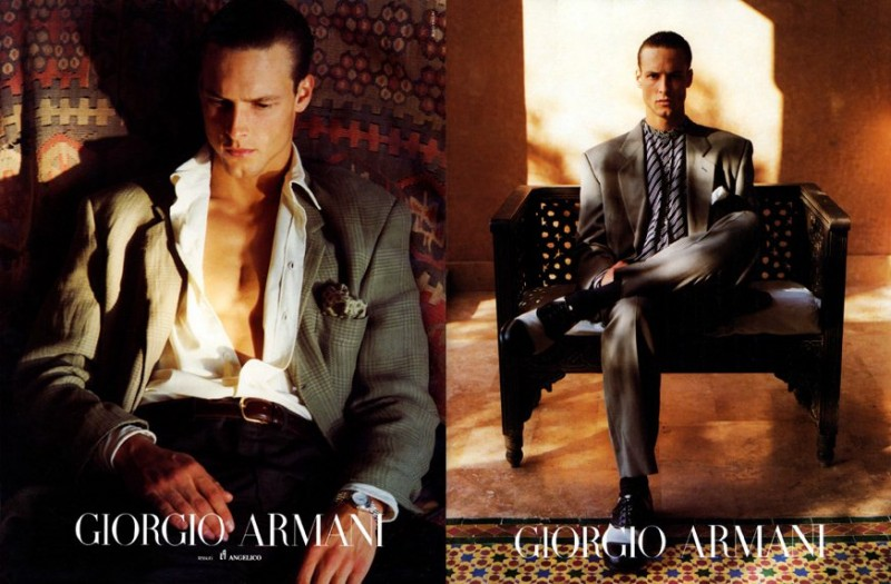 John Adams by Aldo Fallai for Giorgio Armani spring/summer 1992 campaign.