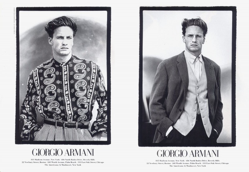Jeff Forney by Peter Lindbergh for Giorgio Armani spring/summer 1993 campaign.