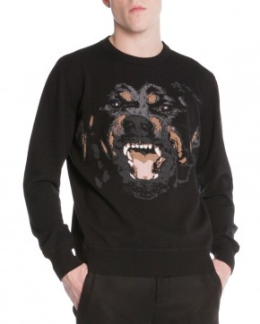 Givenchy Rottweiler-Embroidered Pullover Sweater