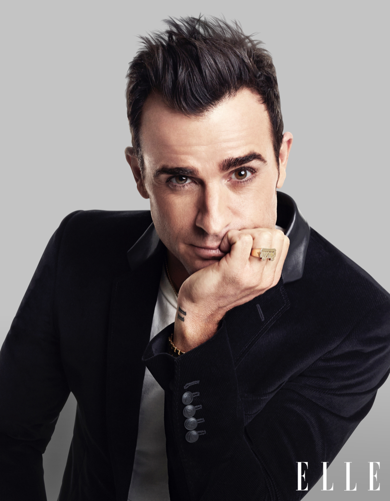 Justin Theroux for Elle, Talks 'The Leftovers' + Dating Jennifer Aniston