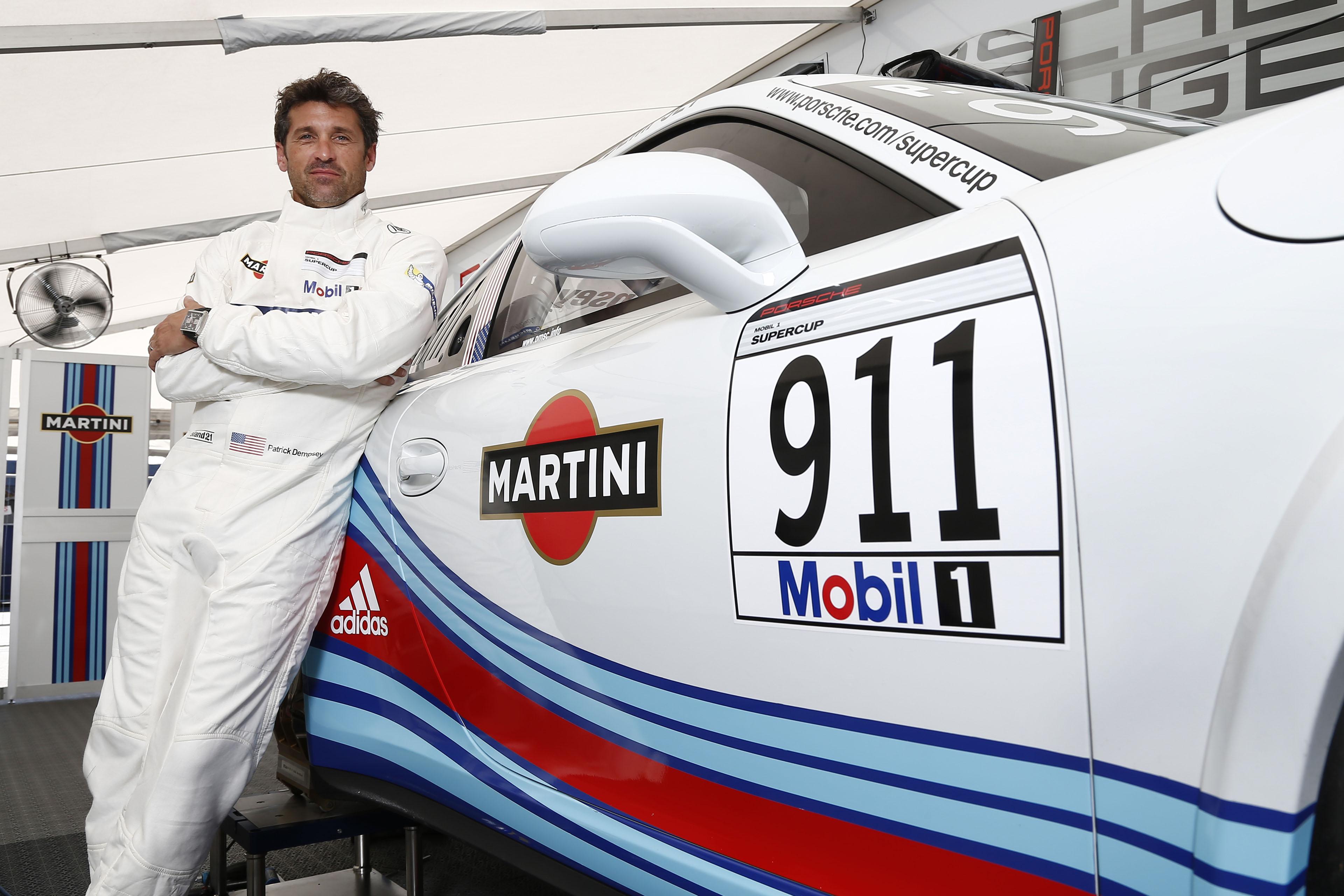 Patrick Dempsey Races For Martini In The Porsche Mobil 1