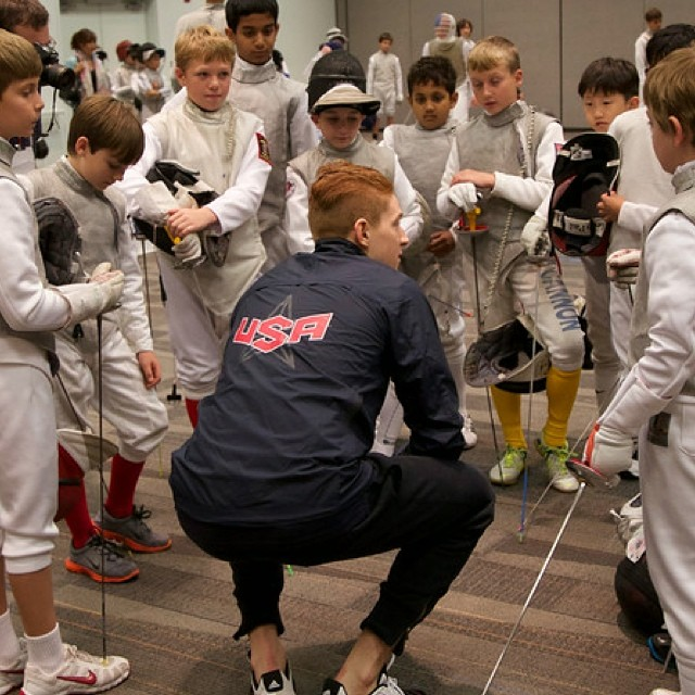 Race Imboden shares an infectious moment mentoring youth.