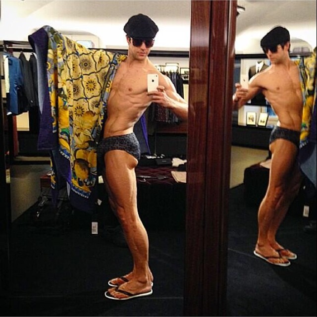 Roberto Bolle is set for the beach.