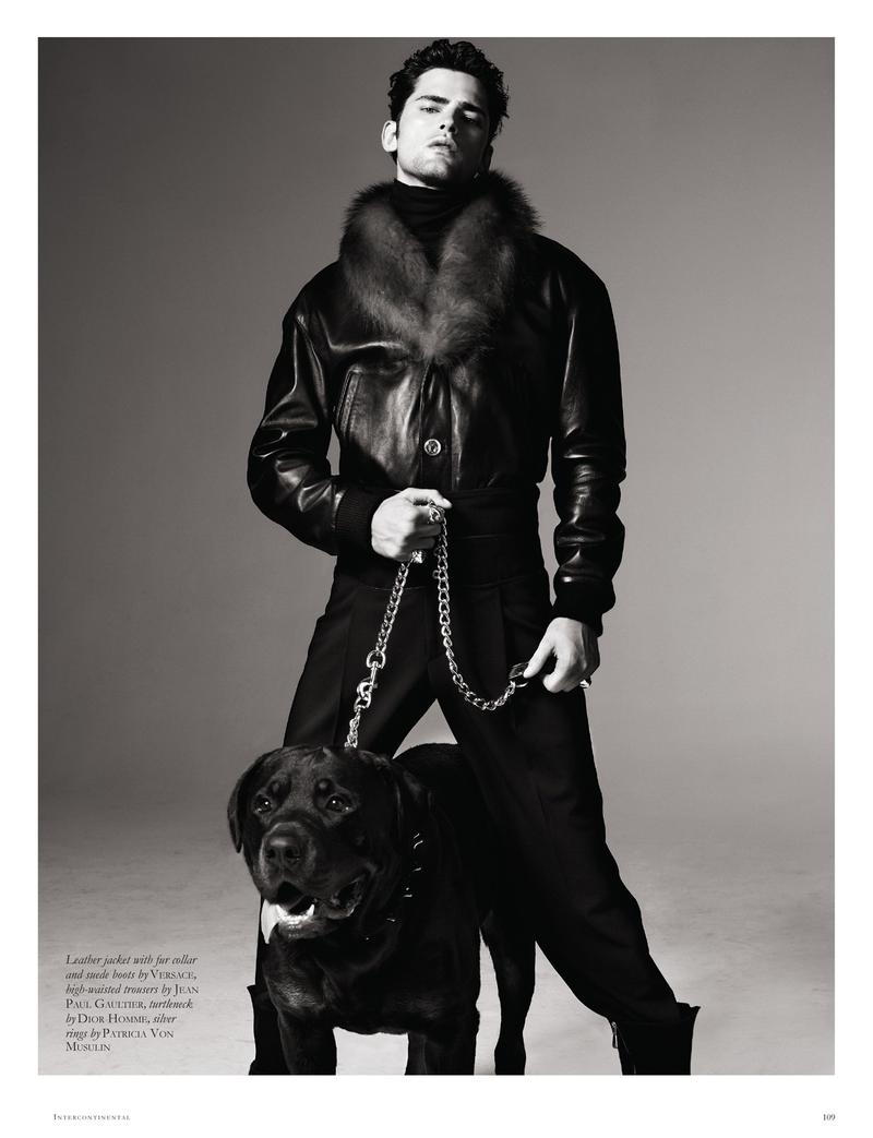 Sean O'Pry is an effortlessly cool vision in Black magazine's September 2012 issue. Photo by Michael Schwartz.