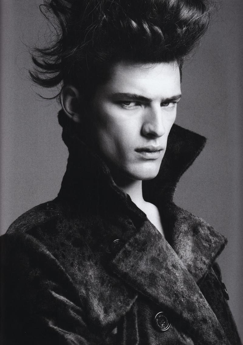 Sean O'Pry is a high fashion vision in this photo by Greg Kadel. Numero Homme Fall/Winter 2008.