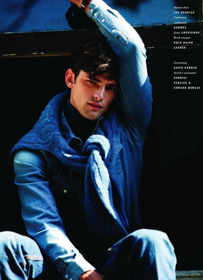 Sean O'Pry is cool in blue for Vogue Hommes International fall/winter 2011. Photo by David Armstrong.