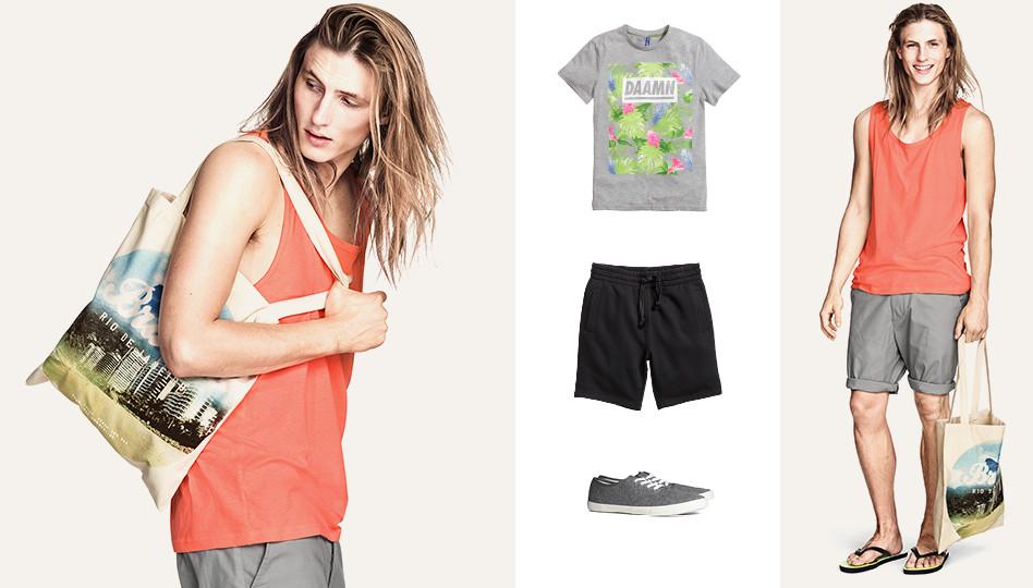 Viggo Jonasson Models Casual Summer Looks for H&M Divided