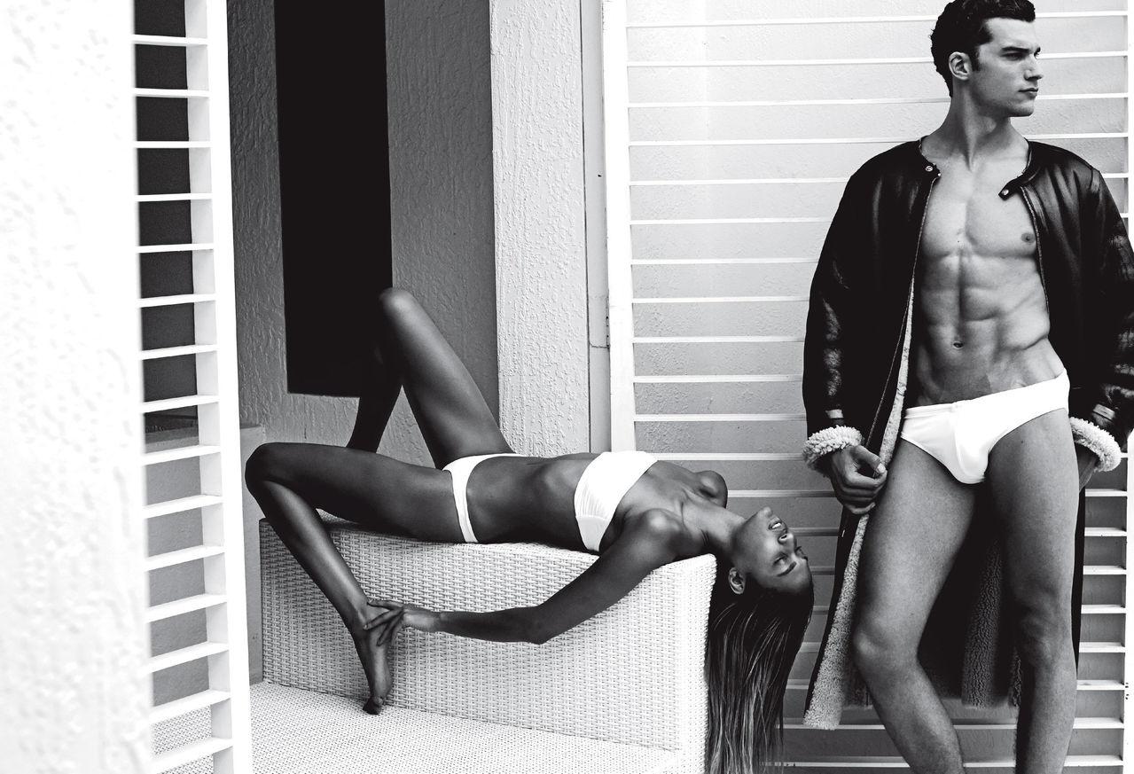 Aurélien Muller Lounges Under the Sun for V Magazine
