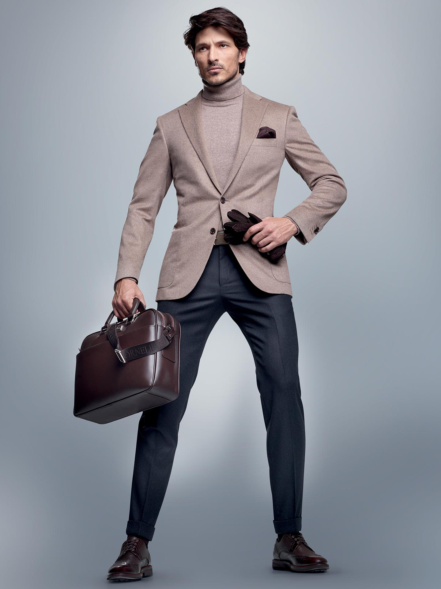 Andres Velencoso Segura Dons Elegant Styles for Corneliani Fall/Winter 2014 Lookbook