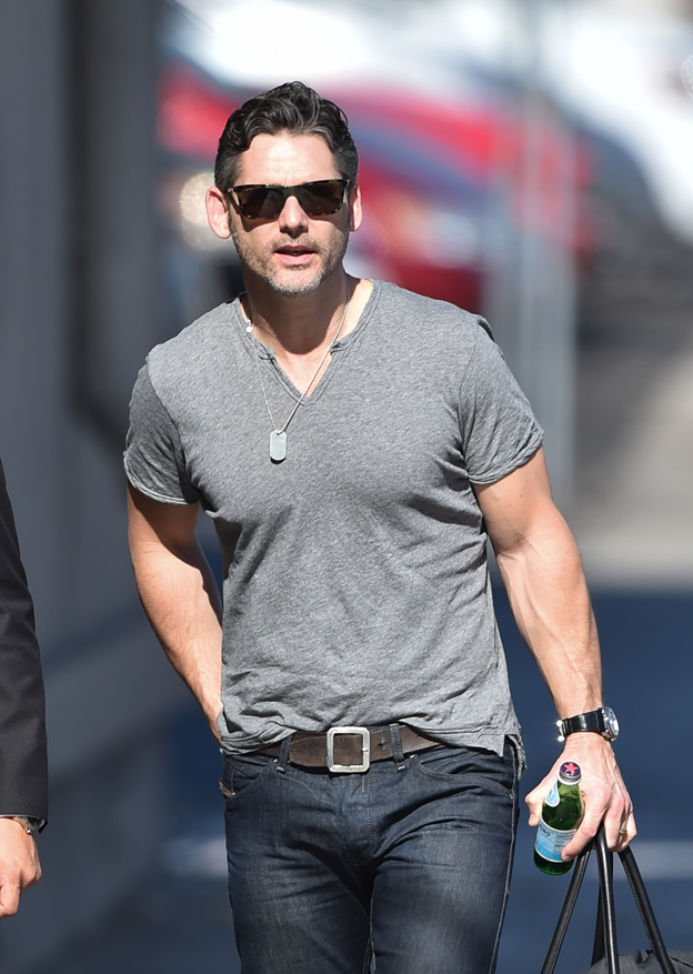 Eric Bana Sports BVLGARI to Jimmy Kimmel Live Taping