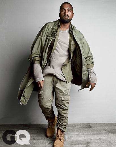 6c8e38125d28 Kanye West Styles Himself for GQ